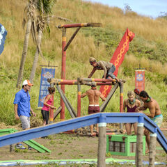 Mana competing in the fifth Immunity Challenge, <i><a href=