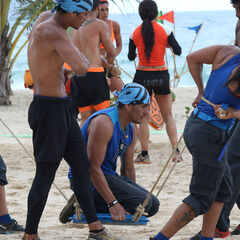 Banda competing in the fifth Immunity Challenge.