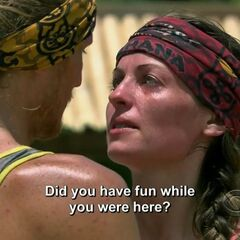 Tyson asking Rachel if she enjoyed her time on Survivor.