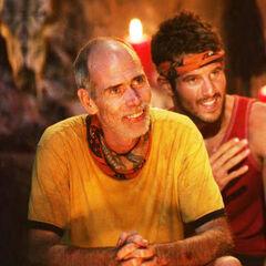 Dan and Nick at Tribal Council