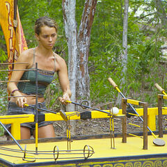 Baylor during the Immunity Challenge.