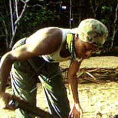 Ramona building the shelter on Pagong.