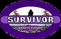 Survivor Kicking Stones logo