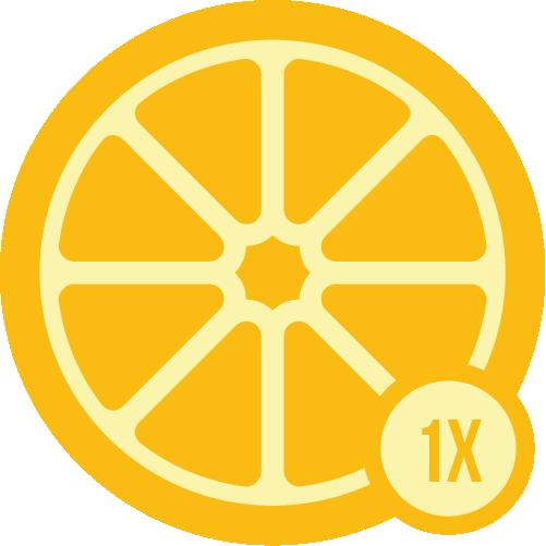 Badge cincin 1x
