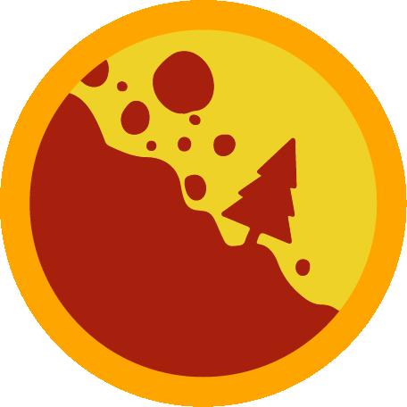 Badge landslide