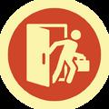 Badge barrado