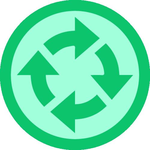 Badge retornante 4x
