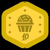 Badge VDX ouro