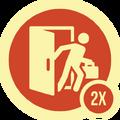 Badge barrado 2x