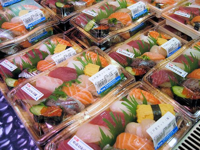 File:Nigirizushi for sale at a supermarket in Tokyo.JPG