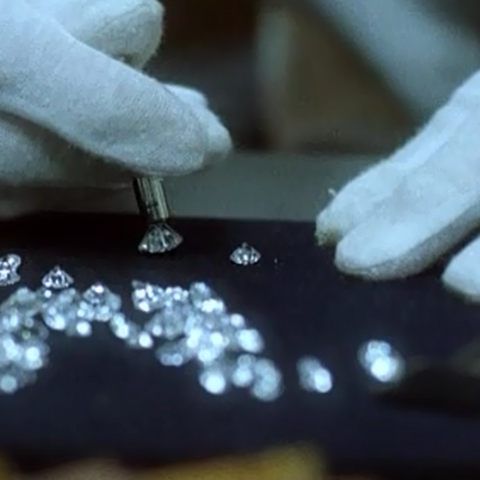 Morris with the diamonds.