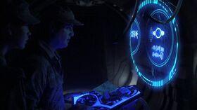 Blå utomjordingdator