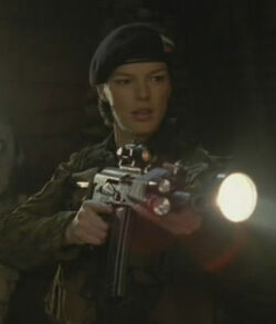 Lt.Talineva with Zastava M85