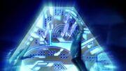 Blue alien control panel