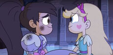 Star and Marco gazing at each other.