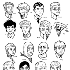 <b>Regular and Recurring Cast Sketches</b> Created by kentkomiks <a rel=