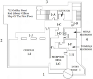 Red Library Offices First Floor Map