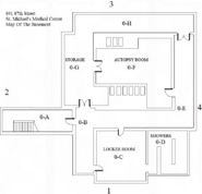 St. Michael's Medical Center Basement Map