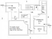 Red Library Offices Third Floor Map