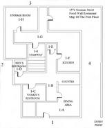 Food Wall Restaurant First Floor Map