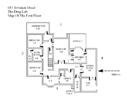 Drug Lab First Floor Map