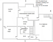 Northside Vending And Amusements Basement Map