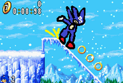 Sanic in da frozen place