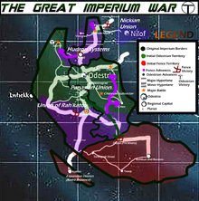Great Imperium War Map Year 2
