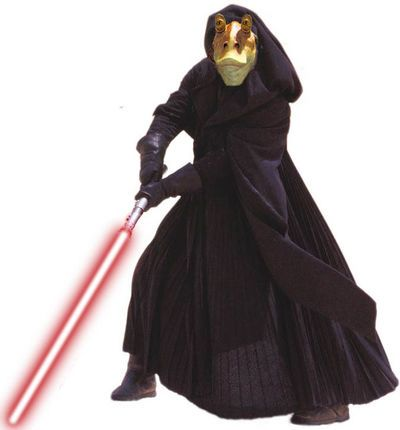 Jar Jar Binks as a Sith Lord
