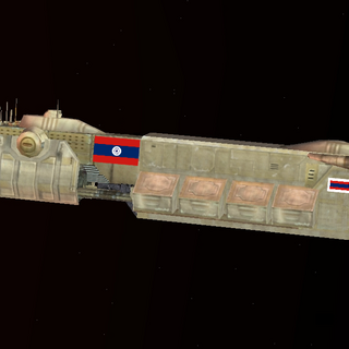 An unarmed <i>Super Neimoidia</i> of the C.S.M.N, note large 2nd Civil Ensign and Civil Jack displays