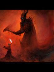450px-Timo Vihola - Melkor vs Fingolfin