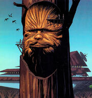 Chewbacca carving