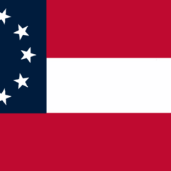 The second-most commonly seen variant of the 10-star flag after the original, this variant had slightly darker bars and canton, and slightly larger stars