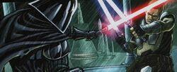 Starkiller clone vs Vader