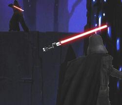 Sith saber throwoff