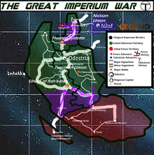 Great Imperium War Map Year 1