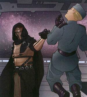 Revan chokes officer