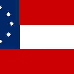 A variant of the 10-star flag with 8-pointed stars