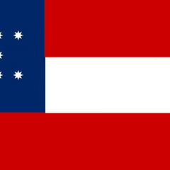 A variant of the 10-star flag with the 8-pointed stars arranged horizontally