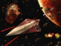Geonosis asteroid battle