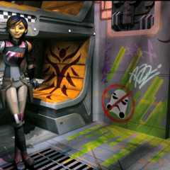 Sabine in a <i>Ghost</i> bunk