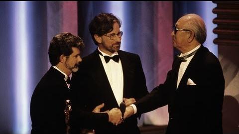 Akira Kurosawa receiving an Honorary Oscar®