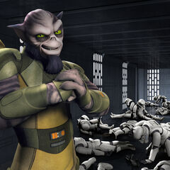 Zeb beats up stormtroopers