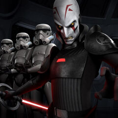 The Inquisitor with stormtroopers