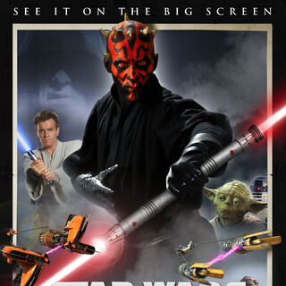 The Phantom Menace 3D re-release poster