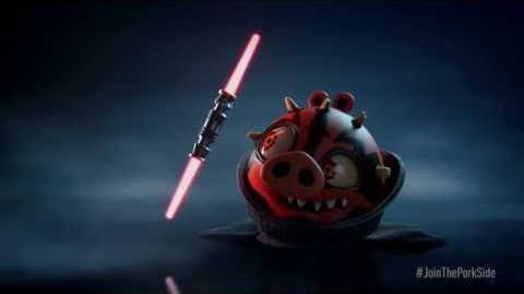 Angry Birds Star Wars II Darth Maul Teaser Trailer