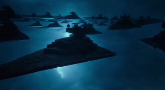 Imperial Star Destroyers from the Trailer
