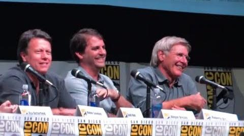 Brandon Rhea/Two Funny Han Solo Questions for Harrison Ford at Comic-Con