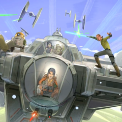 The <i>Ghost</i> crew in battle