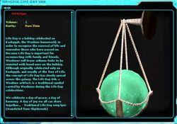 Hanging life day orb rls